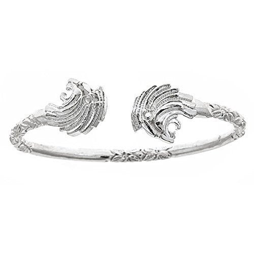 Lion .925 Sterling Silver West Indian Bangle - Betterjewelry