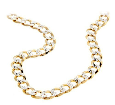 Cuban Italian Chain Two-Toned 14K Gold over .925 Sterling Silver