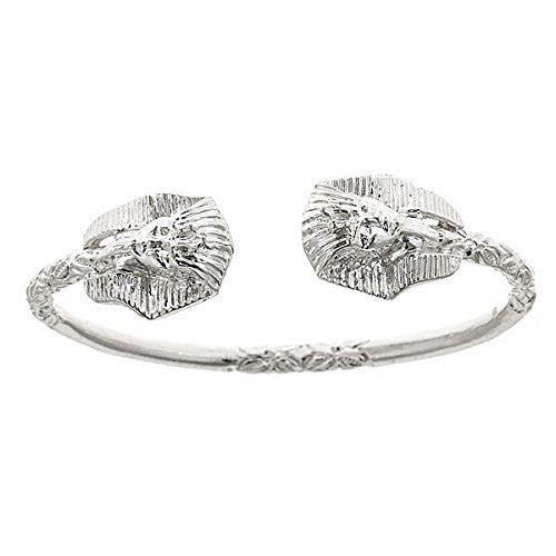 Pharaoh Head .925 Sterling Silver West Indian Bangle - Betterjewelry