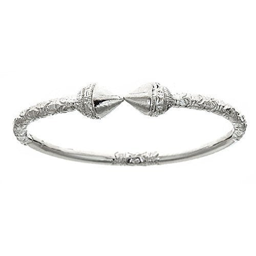 Spear .925 Sterling Silver West Indian Bangles (ONE BANGLE) - Betterjewelry