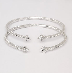 Pointy Ends .925 Sterling Silver West Indian Bangles - Betterjewelry