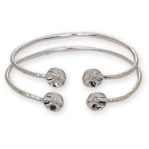 Drum Ends .925 Sterling Silver West Indian Bangles (2mm, 22g) - Betterjewelry