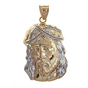 Jesus Head Charm 10K Yellow Gold - Betterjewelry