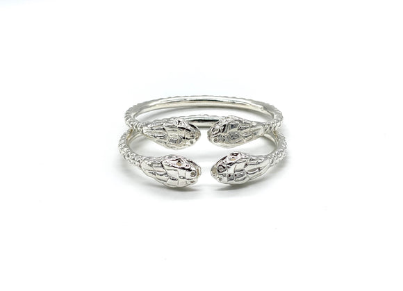 Thick Snake Ends .925 Sterling Silver West Indian Bangles