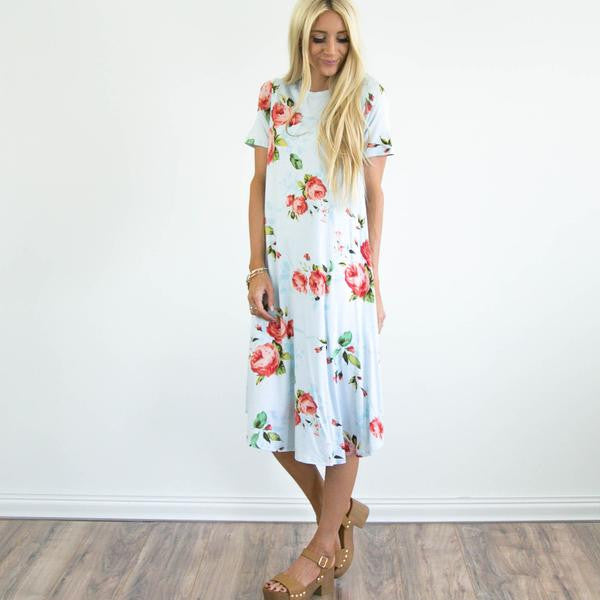 S & Co. Lillie Dress in Sky Blue