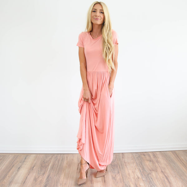 Chantal Maxi Dress in Blush