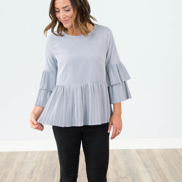 Francis Pleated Top
