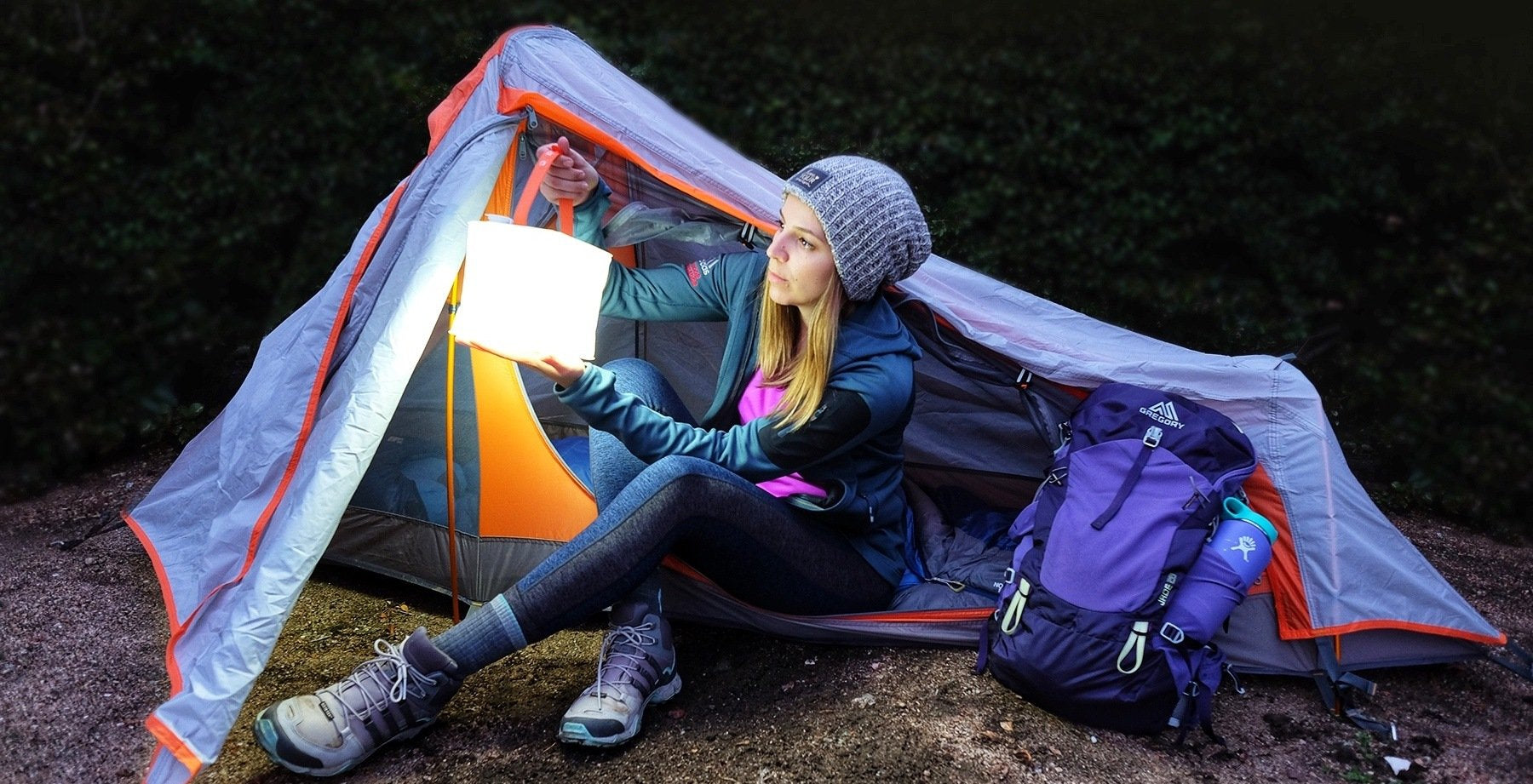 PackLite Max 2-in-1 Phone Charger Named Best Lantern for Backpacking by REI.com-LuminAID