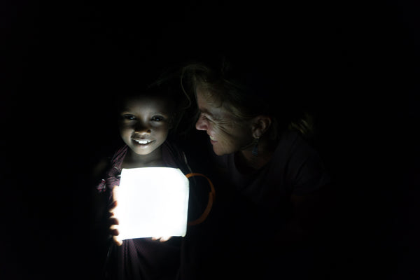 Students for Africa Tanzania with LuminAID Solar Lantern