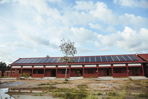 Twende Solar Installation in Middle School in Cambodia