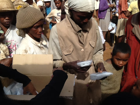 LuminAID solar lanterns distributed in Madagascar
