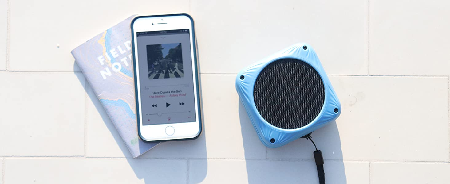 A premium solar speaker that pairs with your phone.