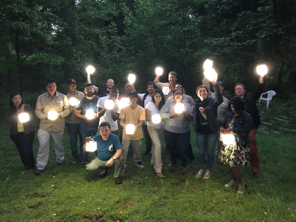 Rainforest Trust Guardians with LuminAID Lights