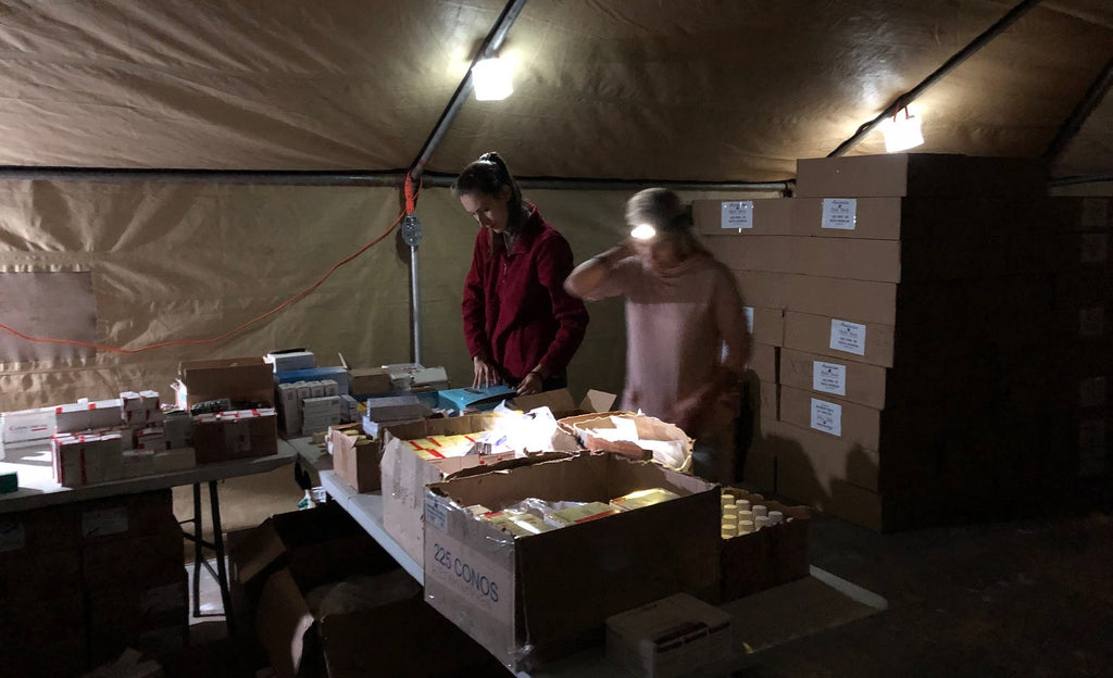 Team 5 medical tent in Peru