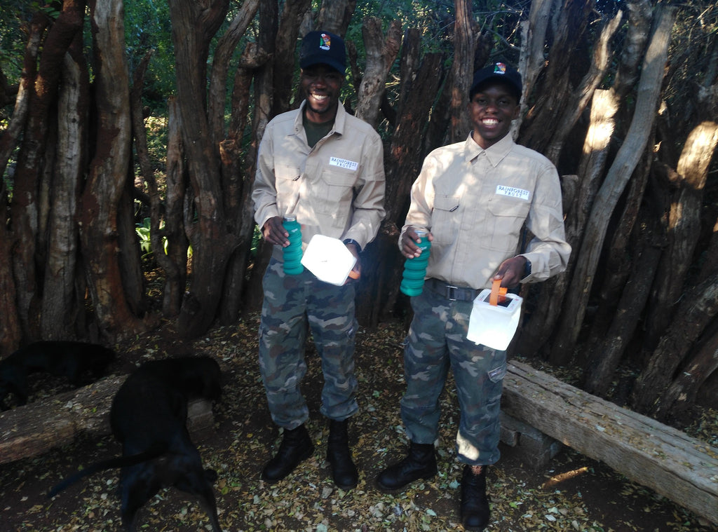 South African Forest Guardians with LuminAID lights