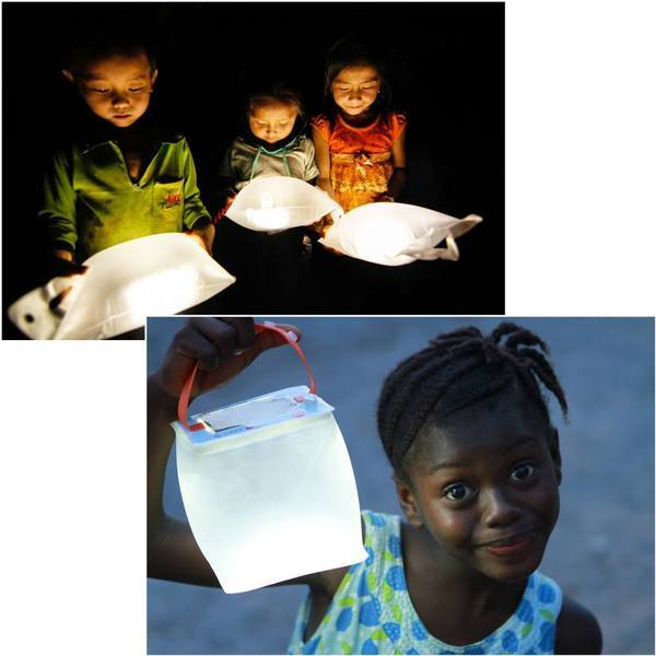 Children who received LuminAID lights through the Give Light, Get Light program.