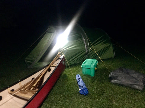 LuminAID ShelterBox Rotary camp