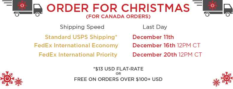 Canada Holiday Shipping Deadlines