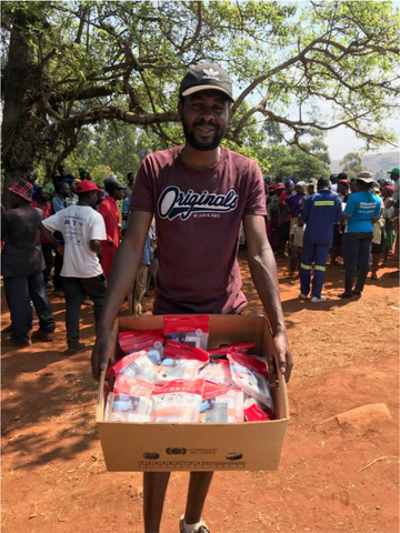 Distribution of LuminAID solar lights in Zimbabwe