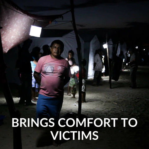 Solar light brings comfort to victims