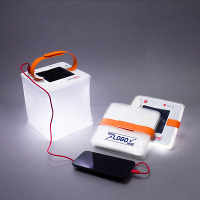 LuminAID-Custom LuminAIDs-1-Color PackLite Max 2-in-1 Phone Charger Print Package (50 Units)-CPRINT-PLMXC-CP1-50