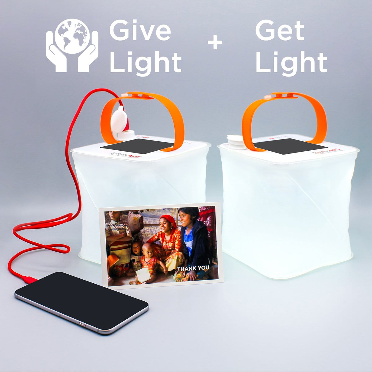 Give Light, Get Light Phone Charger Package
