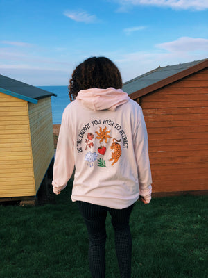 Be The Energy- Pink Hoody Top