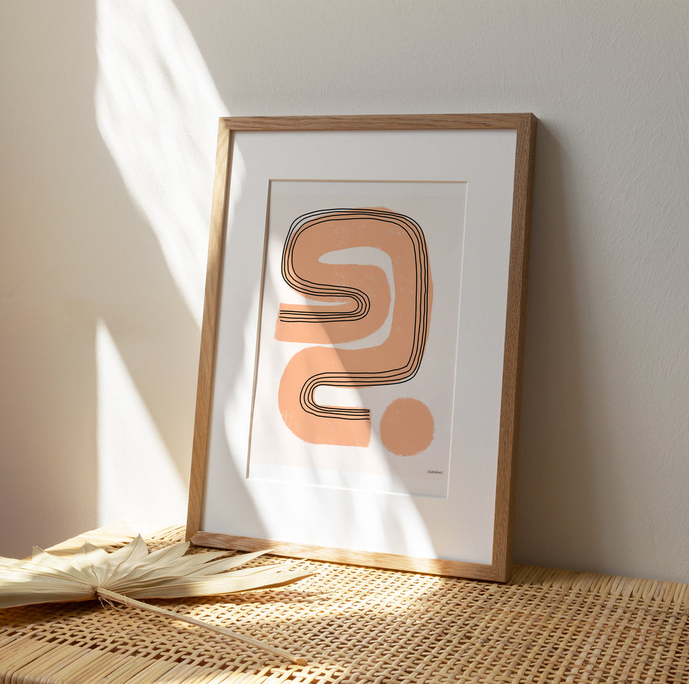 'Abstract in Honey' Art Print