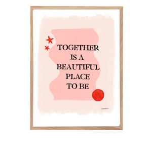'Together Is Beautiful' A4 Print