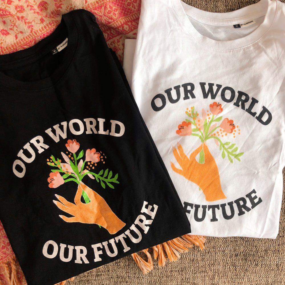 Our World Our Future - white