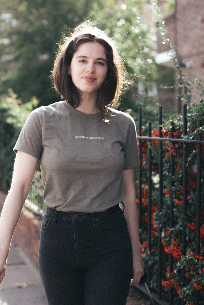 Girl Power // embroidered tee