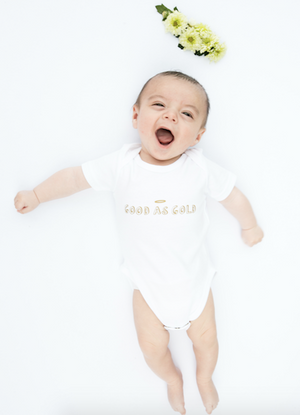 Load image into Gallery viewer, Good As Gold // organic babygrow