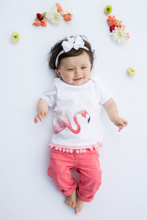 Load image into Gallery viewer, Flamingo tee // organic baby tee