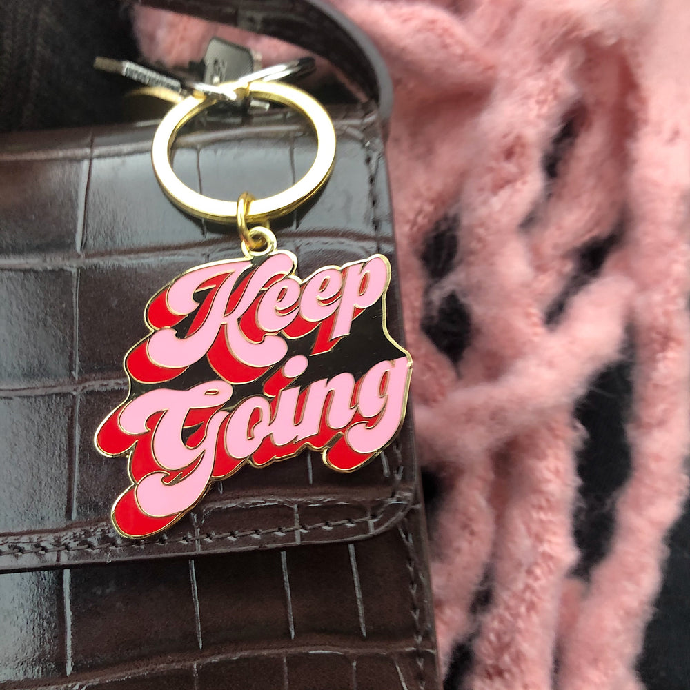 Keep Going Keyring