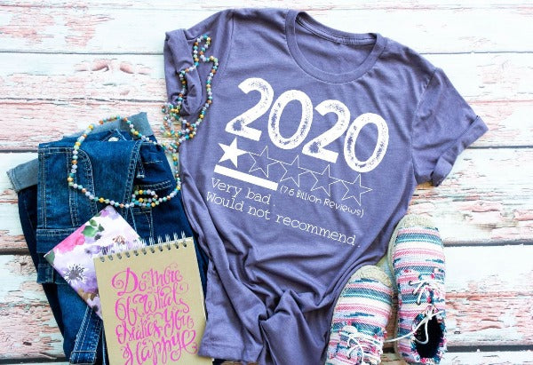 "(1) Short sleeve shirt ""2020 Review"" (accessories in the photo are not included)"