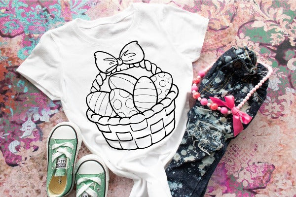 Easter Color-Your-Own Shirt  - Toddler/Youth Shirt