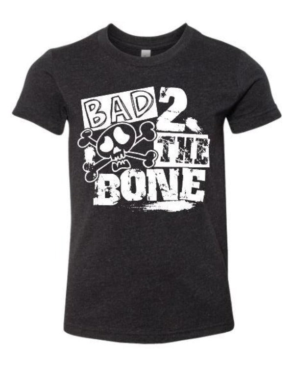"(1) White short sleeve shirt ""Bad 2 The Bone - Youth Shirt"" (accessories in the photo are not included)."