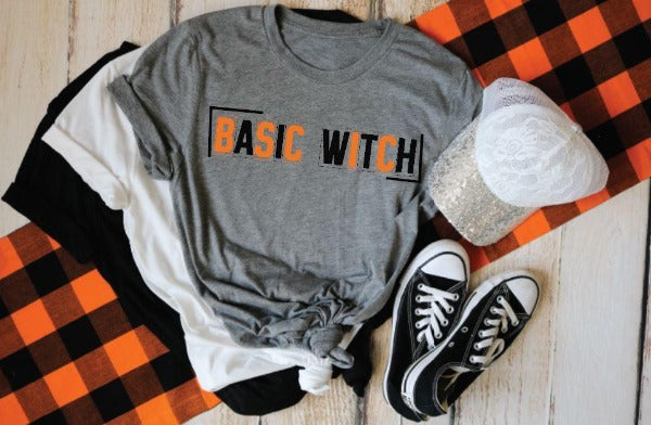 "Short sleeve shirt ""Basic Witch"" (accessories in the photo are not included)."