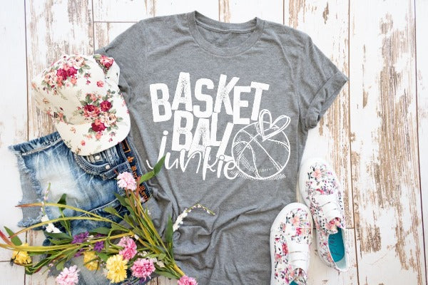 "(1) Short sleeve shirt ""Basketball Junkie"" (accessories in the photo are not included)."