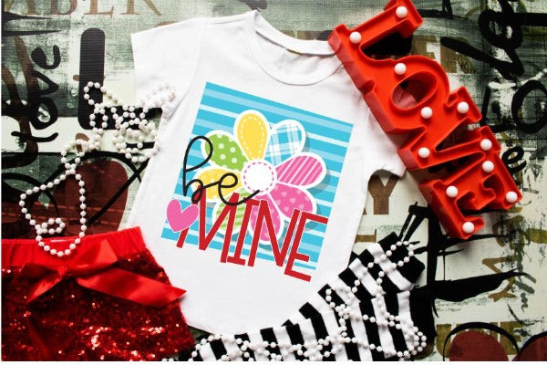 "(1) Short sleeve shirt ""Be Mine- Youth Shirt"" (accessories in the photo are not included)."