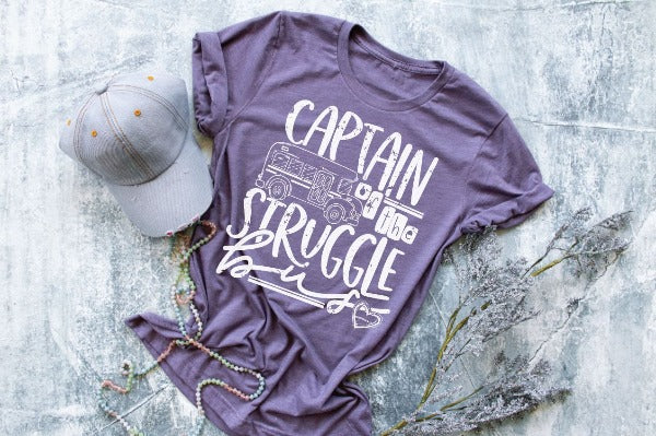 "(1) Short sleeve shirt ""Captain Of The Struggle Bus"" (accessories in the photo are not included)."