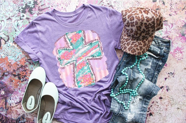"(1) Short sleeve shirt ""Cross"" (accessories in the photo are not included)"