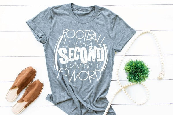 "(1) Short sleeve shirt ""Football Is My Favorite F Word"" (accessories in the photo are not included)"