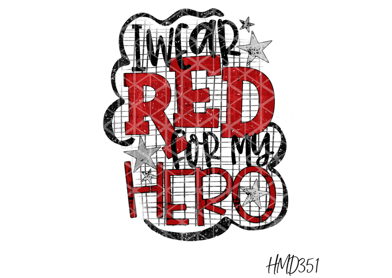 I Wear Red For My Hero TRANSFER (PHYSICAL) - Craft of Heart
