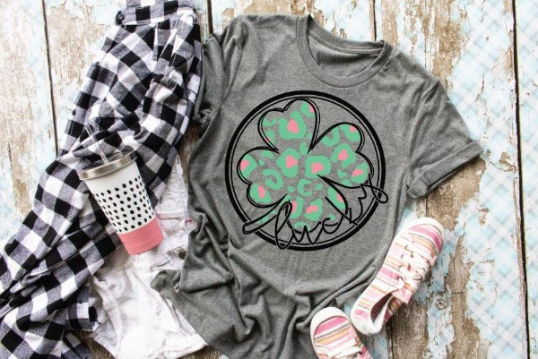 "(1) Short sleeve shirt ""Lucky Clover"" (accessories in the photo are not included)."