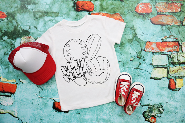 Play Ball Color-Your-Own Shirt - Toddler/Youth Shirt