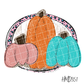 Pumpkin Trio (2 Design Options) TRANSFER (PHYSICAL)