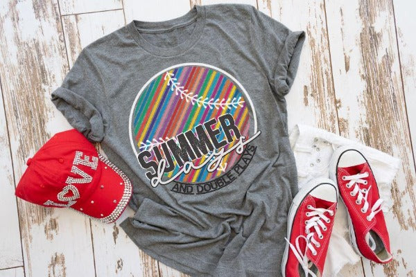 "(1) Short sleeve shirt ""Summer Days And Double Plays"" (accessories in the photo are not included)."