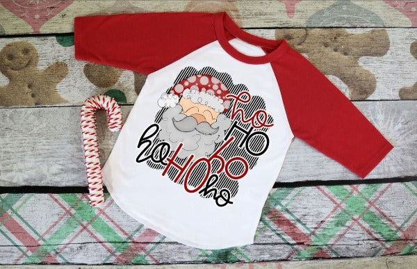 "(1) 3/4 sleeve shirt ""Ho Ho Ho Ho Ho Ho"" (accessories in the photo are not included)."