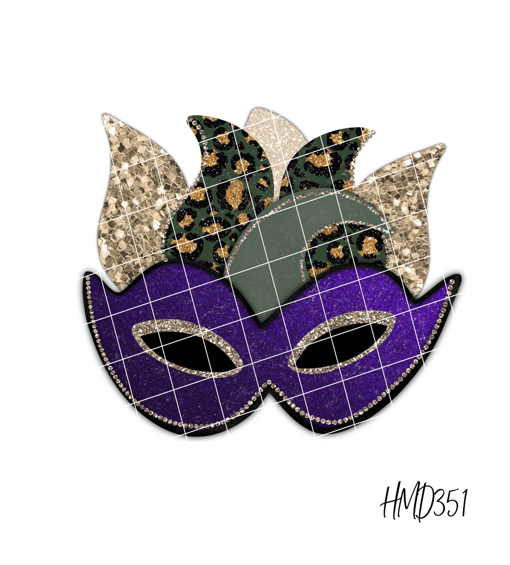 Mardi Gras Mask (2 Design Options) TRANSFER (PHYSICAL)